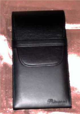 """BLACK SOFT LEATHER CIGAR CASE-@ WHOLESALE PRICING -8""""x 4""""x 1 1/2"""" Discounted"""