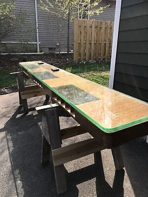 "Mid Century Architectural Salvage Banker Counter Glass top 10' long x 18"" wide"
