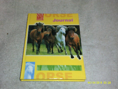 HORSE JOURNAL*Horses on Cover*50 Lined Pages*Hard Cover*NEW