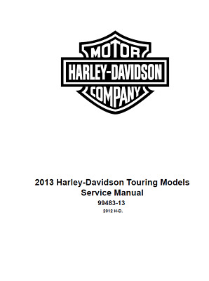 2013 harley street glide flhx service & electrical diagnostic manual on cd