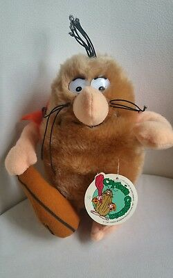 "1980 Captain Caveman Hanna-Barbera Mighty Star Plush Approximately 8"" with Tag"