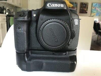 Canon EOS 7D 18.0MP Digital SLR Camera BODY ONLY Battery Grip -Low Shutter Count