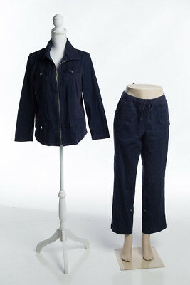 Zenergy by Chico's Two Piece Jacket Pants Navy Size 1