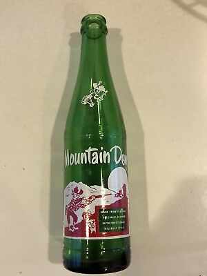 Near Mint Collectible Vintage Hillbilly Mountain Dew 10 OZ. Green Bottle 64