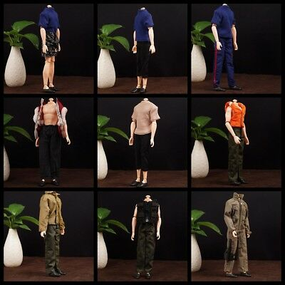 1/6 Scale Casual Male Clothing Set T-shirt Vest For 12'' Action Figure Doll Toys