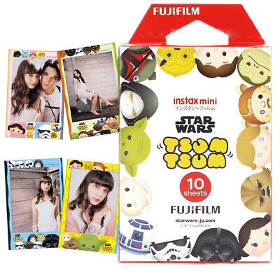 2019-03 FujiFilm Instax Mini Film Disney Star Wars Tsum Tsum 7s 8 9 25 70 90 NEW