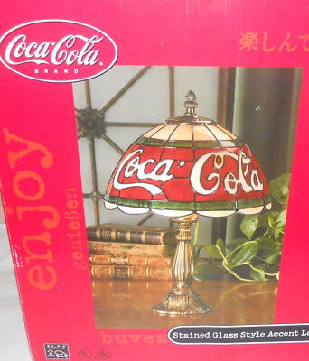 CocaCola Stained Glass Style Accent Lamp *new in box*
