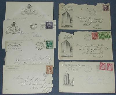 Lot of (6) New York Hotel Vintage Covers.
