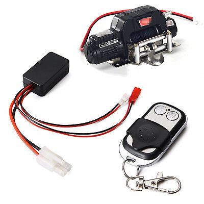 1/10 Warn Winch + Wireless Remote Control Kit For RC Car 1:10 SCX10 Crawler
