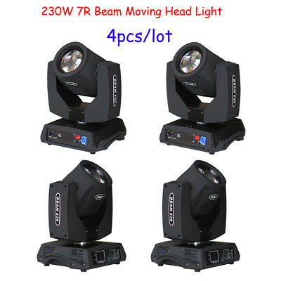 Touch Screen 230W 7R Beam Moving Head Light 8 prisms DJ lights from US 4pcs