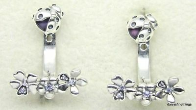 058d91f5bc305 NEW/TAGS AUTHENTIC PANDORA Silver Ladybug Jacket Earrings #297123Nlc Retired