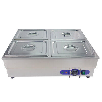 Bain Marie Wet  Stainless Steel 4* 1/2 Pan Commercial Electric Food  Warmer