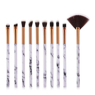 10pcs Pro Makeup Brushes Set Powder Foundation Eyeshadow Eyeliner Lip Brush Tool