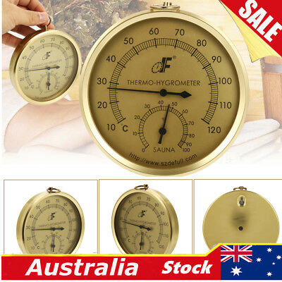 110mm Wall Hanging Weather Station Barometer Thermometer Hygrometer Sauna Room