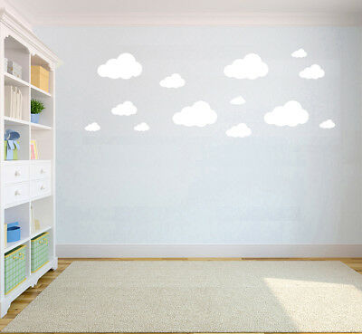 Colourful Cloud Wall Stickers Decals Removable Kids Bedroom Pattern