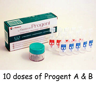 10 Menicon Progent Intensive Hard & RGP Contact Lens Cleaner / Protein Remover