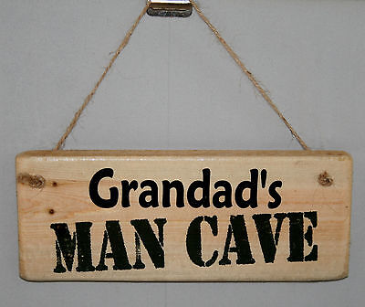 Grandad's Shed Sign Plaque MAN CAVE Door Hanging Wood Garage Home Outdoor Den