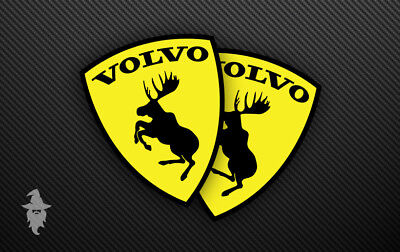 VOLVO Prancing Moose Stickers - 74mm x 92mm