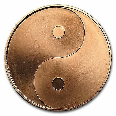 Yin Yang 1 oz 99.9% Pure Copper Round Only 1,398 Minted