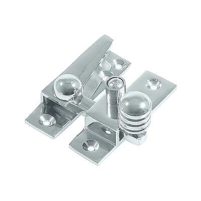 Reeded Swing Arm Sash Window Fastener Locks, Lockable, Chrome, set of 3 for bay