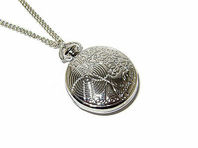 Doctor Who Gallifreyan Fob Watch Locket Necklace Silver Plated Best Quality!!!