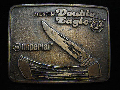 PD15123 VINTAGE 1970s **IMPERIAL KNIFE CO. FRONTIER DOUBLE EAGLE** BELT BUCKLE