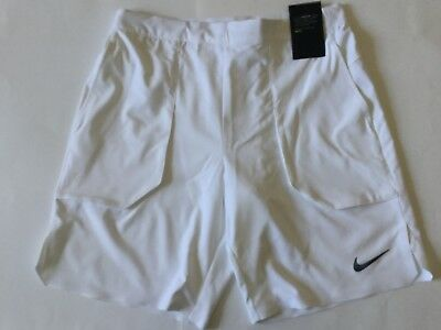 "Mens NikeCourt Flex 7"" Tennis Shorts Medium 854931-100"