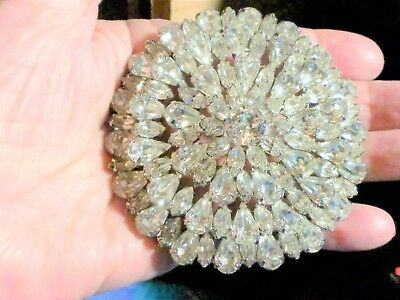 Vintage, Must See, One Of A Kind Clear Rhinestone Brooch
