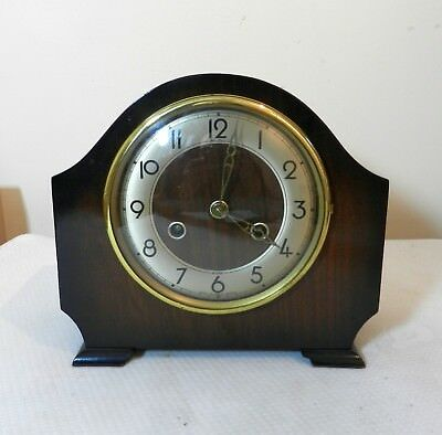 Vintage Bentima Perivale 8 day striking Mantel Clock Working with key