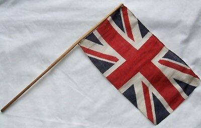 Small Vintage Union Jack Hand Held Cotton Flag A W Gamage London Connection
