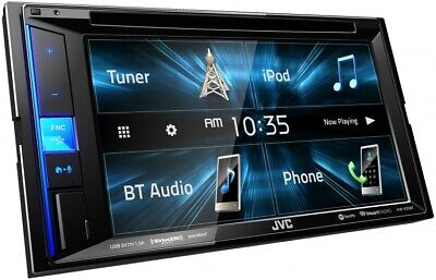 "NEW JVC KW-V140BT 6.2"" Touchscreen Double Din BLUETOOTH DVD Player Car Stereo."