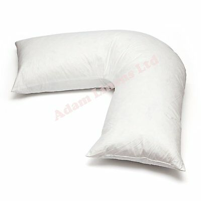 Adamlinens Duck Feather & Down - V Shaped Pillow Only Washable, Anti Dust Mite