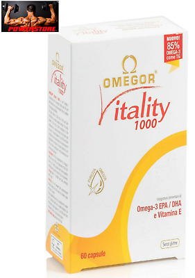 Omega 3 Omegor Vitality 1000 High Concentration of Epa and Dha + Vit. 60 Pearls