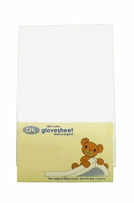 Cot Fitted Sheet For Space Saver Cot : 100% Combed Jersey Cotton Col WHITE To x