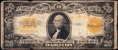 Affordable low grade 1922 $20 *GOLD CERTIFICATE*! FREE SHIPPING! K72985783