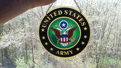 United States Army Suncatcher Sun Catcher Stained Glass-style window hanging