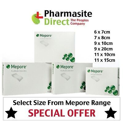 Mepore Self-Adhesive First Aid Dressings | Choose Size 6 7 8 9 10 11 15 20cm