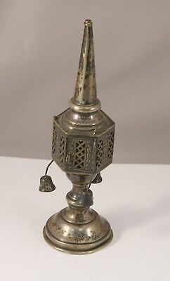 Antique Vintage Besamim Tower Spice Box Sterling Silver Judaica