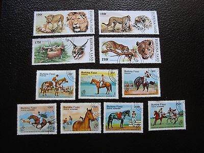 BURKINA FASO - stamp yvert and tellier n°659/661 999/1002 aerien298/301 obl(A04)