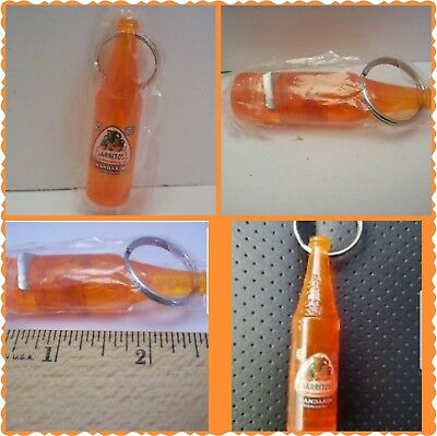 "1 Jarritos Mandarin Mexican Soda Orange Bottle Opener Key Ring 2.5"" - NEW"