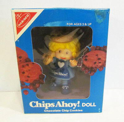 Nabisco Chips Ahoy Cookies Girl Vinyl Advertising Figure Ad Doll Mib 1983 Talbot