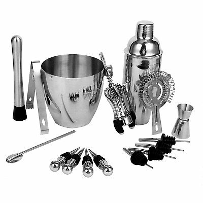 16pcs Stainless Steel Wine &Cocktail Mixing Bar Kit with Essential Barware Tools