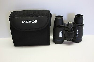 Meade 4x30mm Roof Prism Compact Kids Binoculars Coated Optics with Nylon Case