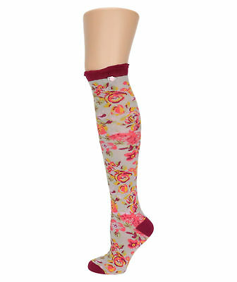 ad25fde7b0a LADIES VINTAGE ROSE Knee High Socks from Powder - £14.99
