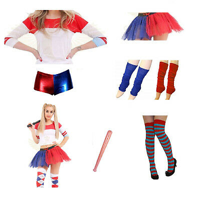 Fancy Dress Jester Suicide Squad Style Halloween Hen Party Harley Quinn Batman
