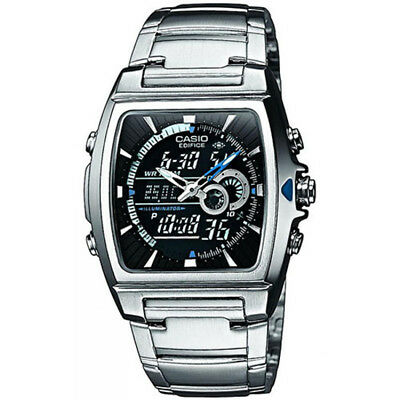 Casio Men's Watch Ana-Digi Edifice Watch with Thermometer and World Time Feature