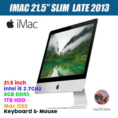 "Refurbished Apple iMac 2013 A1418 i5 2.7GHz 8G 1TB Sierra K/B 21.5"" Slim w/Mouse"