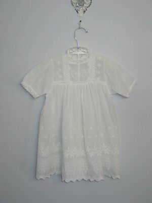 Adorable Antique Victorian Embroidery Baby Doll Dress Christening Baptismal