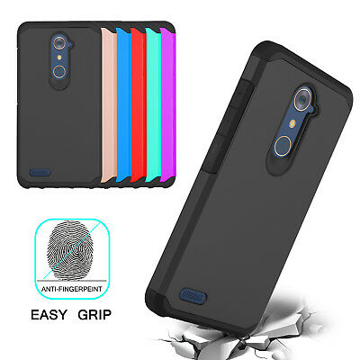 For ZTE Zmax Pro Z981 Shockproof Armor Slim Impact Rubber TPU Hybrid Case Cover