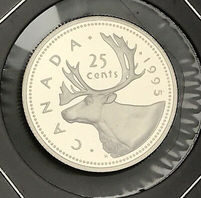 1995 Canada Quarter Proof. Collector Coin For Your Collection or Set.